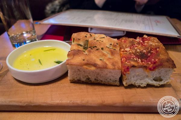 Focaccia at Lugo Cucina in NYC, NY