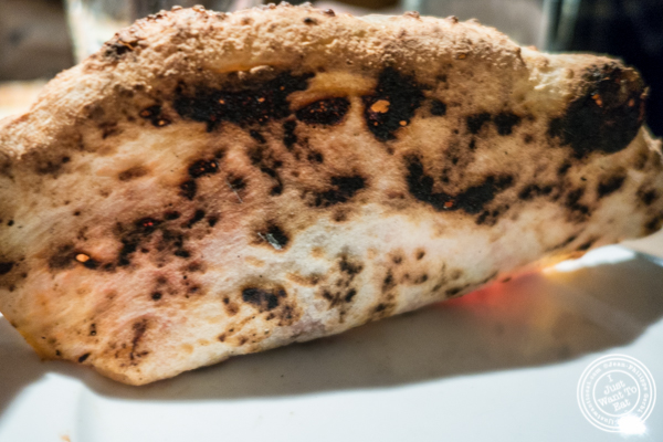 Pizza crust at Ribalta in NYC, NY