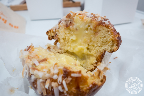 Coconut brioche at Sugar Sketch in the East Village, NYC, NY
