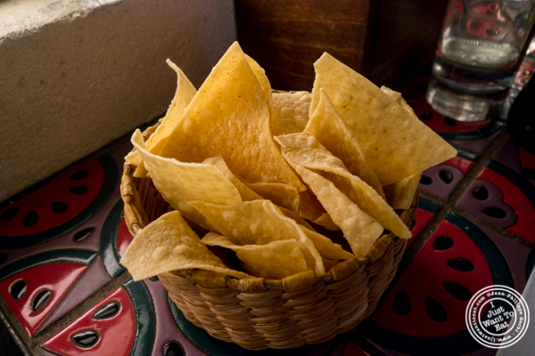 Tortilla chips at Salvation Taco in NYC, NY
