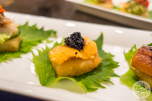 Uni Canape at ROKI Le Izakaya in NYC, NY