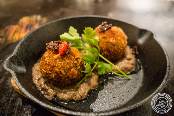 Truffle croquette at ROKI Le Izakaya in NYC, NY