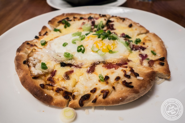 Breakfast pizza at Kingside in NYC, NY