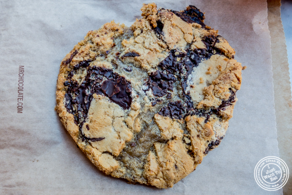 Chocolate chip cookie at Jacques Torres on the Upper West Side, NYC, NY