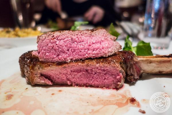 Bone-in ribeye at Westside Steakhouse in NYC, NY