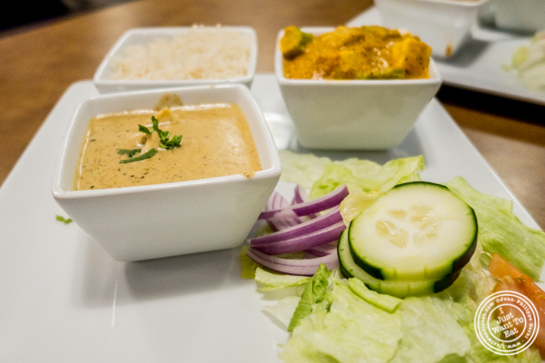 Vegetarian dishes at Chawlas2 in Gramercy, NYC, NY