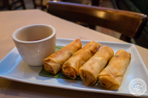 Spring rolls at Kelley and Ping in Greenwich Village