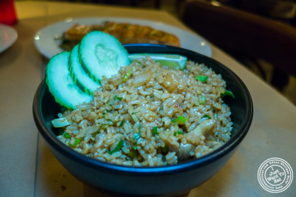 Tom Yum fried rice at Kelley and Ping in Greenwich Village
