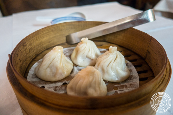 Soup dumplings at China Green in Hell's Kitchen