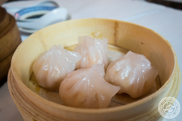 Crystal shrimp dumplings at China Green in Hell's Kitchen