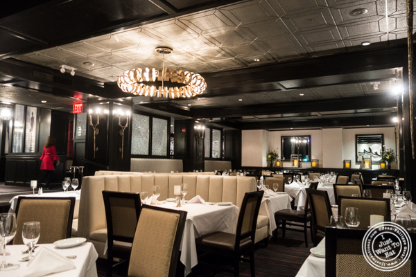 Dining room at Ruth's Chris in Manhattan