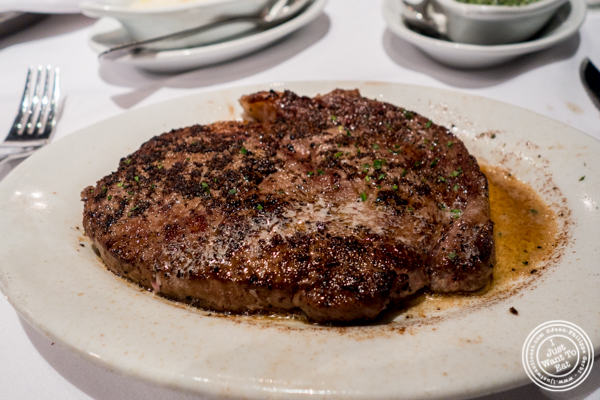 Ribeye at Ruth's Chris in Manhattan