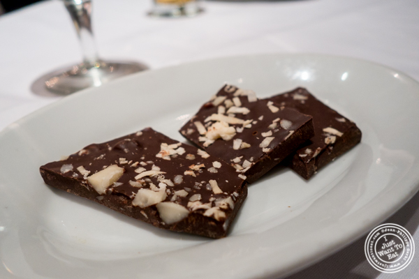 Chocolate bark at Ruth's Chris in Manhattan