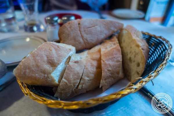 Bread basket at Tout Va Bien in NYC, NY