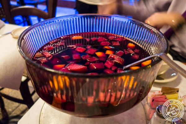 Sangria at Tout Va Bien in NYC, NY