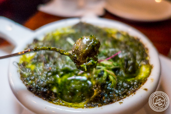 Curried snails at Gentleman Farmer in The Lower East Side, NYC