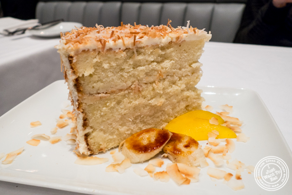 South Carolina coconut cake at Porter House in NYC, NY