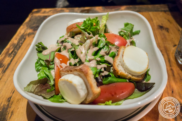 Salade de chevre chaud at BXL Cafe in NYC, NY