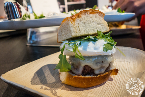 Truffle Burger with burrata from Urbani Truffles and Pat LaFrieda