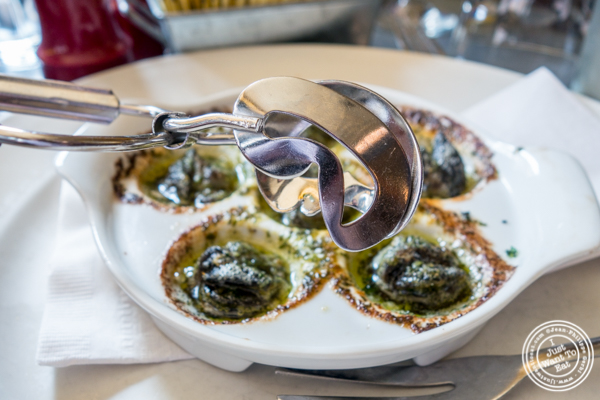 Escargots at Le Grainne Cafe in Chelsea