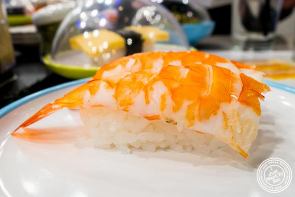 Ebi Nigiri at Yo! Sushi in NYC, NY