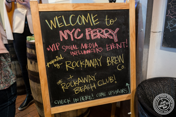 Citywide Ferry event at The Rockaway Brewing Company in Long Island City