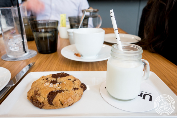 Cookie and milk at Untitled at The Whitney Museum, NYC, NY