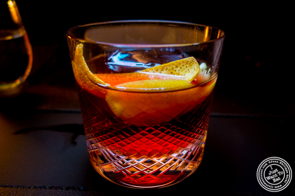 Negroni at Cut by Wolfgang Puck in TriBeCa, NYC