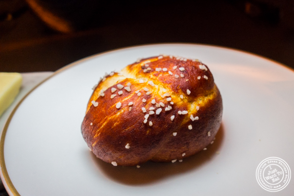 Pretzel bread at Cut by Wolfgang Puck in TriBeCa, NYC