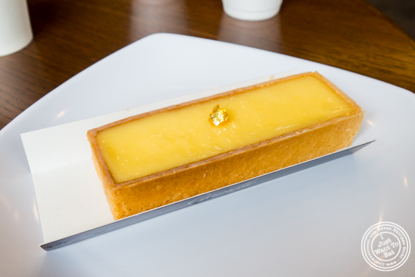 Lemon tart at Cannelle Patisserie in Long Island City