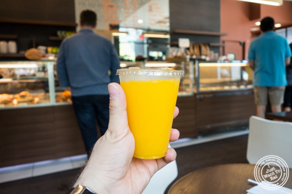 Orange juice at Cannelle Patisserie in Long Island City