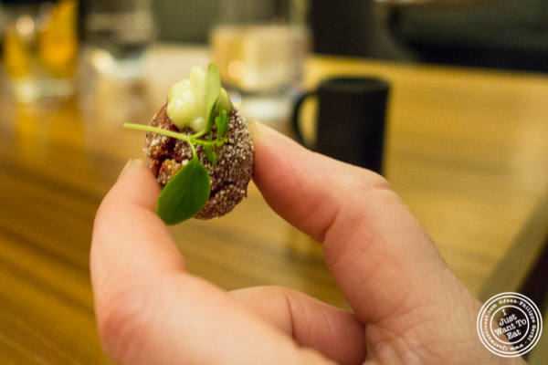 Amuse bouche at Indian Accent in NYC, NY