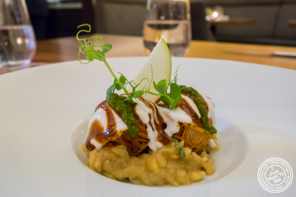 Potato sphere chaat at Indian Accent in NYC, NY