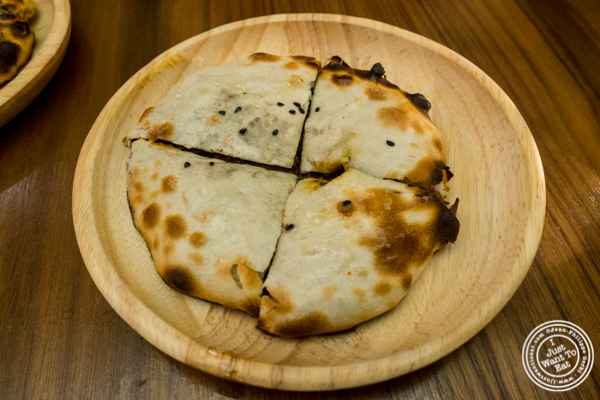 Mushroom kulcha at Indian Accent in NYC, NY
