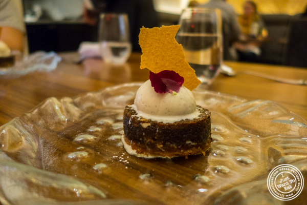 Doda barfi treacle tart at Indian Accent in NYC, NY