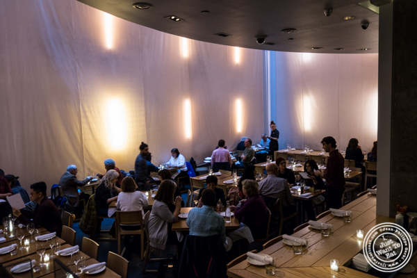Dining room at Momofuku má pêche in NYC, NY