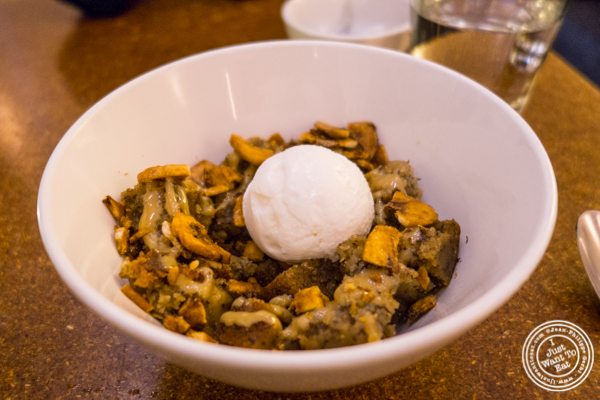 Banana bread pudding at Momofuku má pêche in NYC, NY