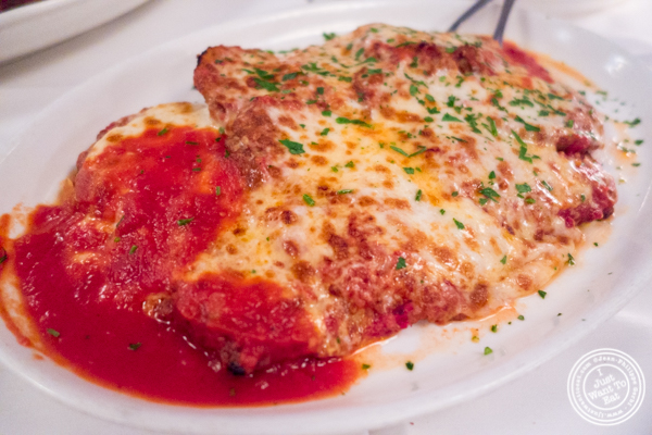 Eggplant parmesan at Tony's di Napoli in Times Square, NYC, NY