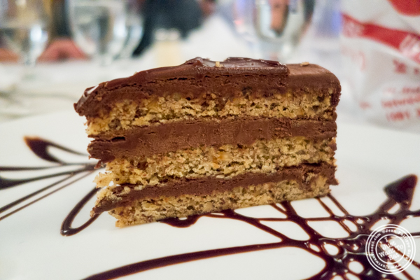 Nutella cake at Tony's di Napoli in Times Square, NYC, NY