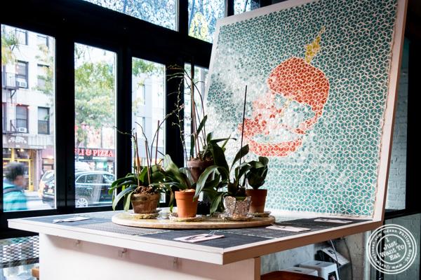 Table at Thai Sliders, Chelsea, NYC, NY