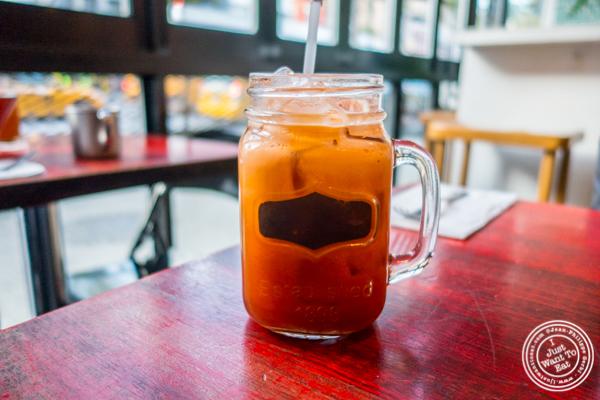 Thai ice tea at Thai Sliders, Chelsea, NYC, NY