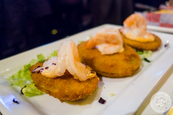 Fried green tomatoes at Southern Hospitality in Hell's Kitchen, NYC