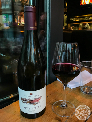 Cote-Rotie wine at Gaudi Café in Grenoble, France
