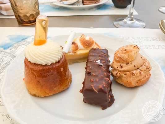 Desserts at Brasserie of the Imperial Palace in Annecy, France