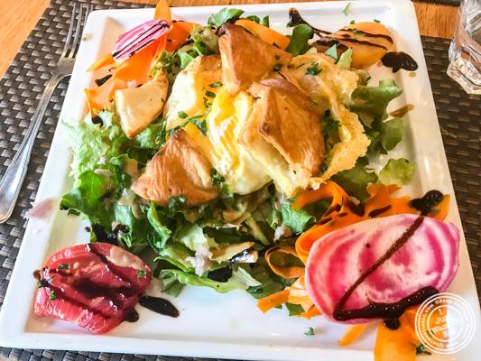 Feuillete de Saint-Marcelin salad at La Petite Idée,Grenoble, France