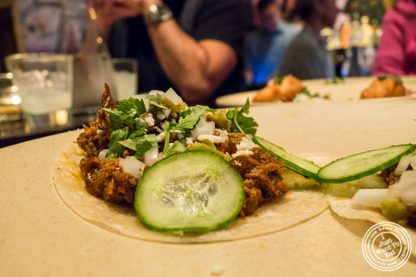 Lamb barbacoa tacos at Empellon Taqueria in NYC, NY