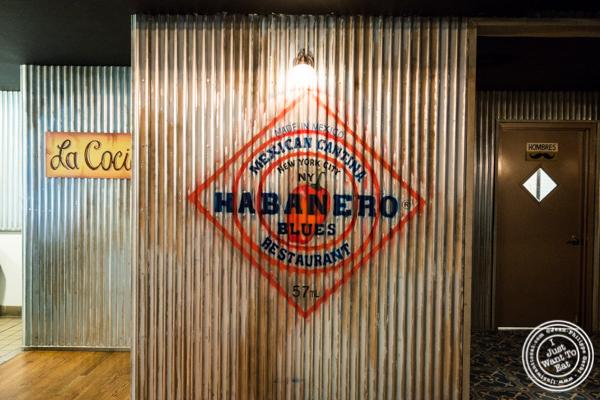 Sign at Habanero Blues in NYC, NY
