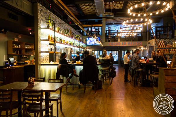 Bar area at Habanero Blues in NYC, NY