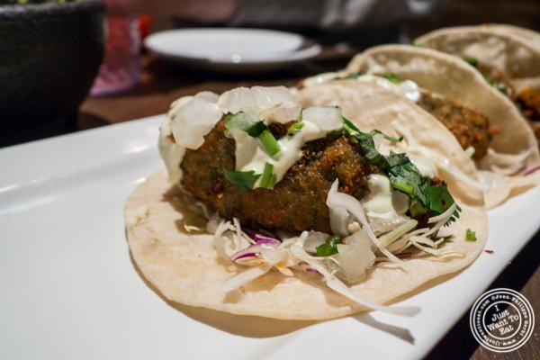 Avocado frito taco at Habanero Blues in NYC, NY