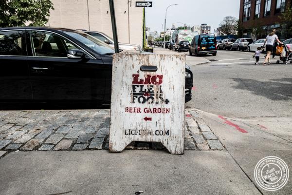 LIC Flea & Food Market sign